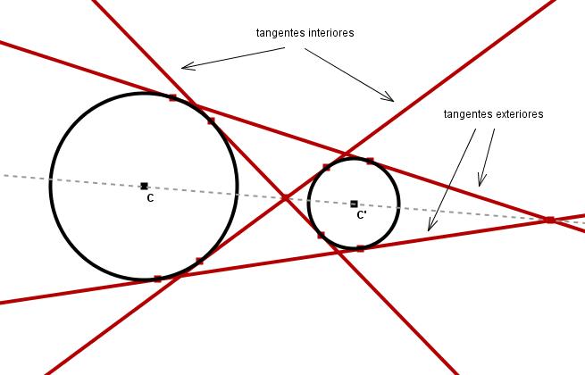 Rectas tangentes a dos circunferencias wikillerato for Exterior tangente y secante