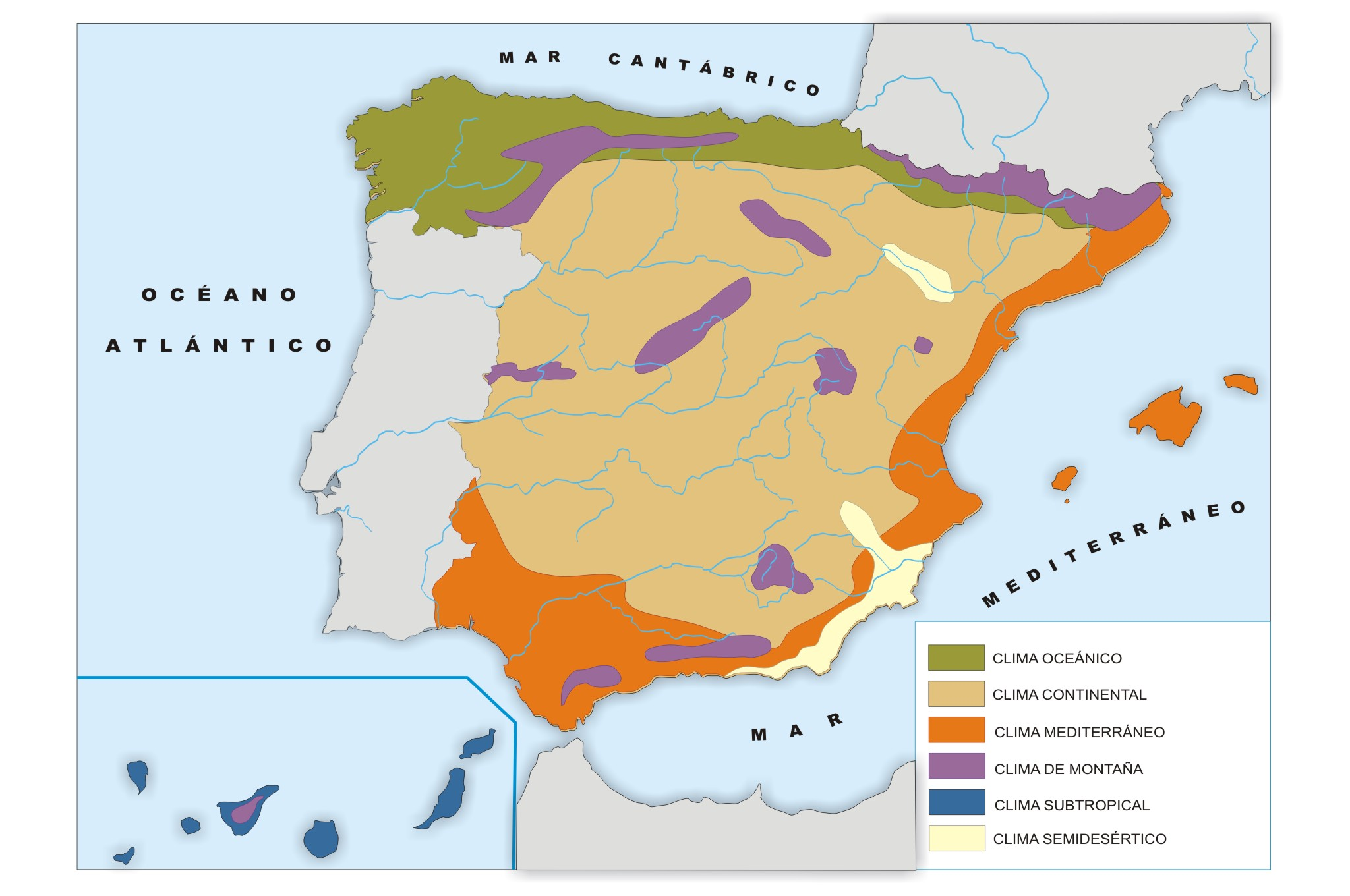 Imagen zonas climaticas de wikillerato for Ministerio del interior ubicacion mapa