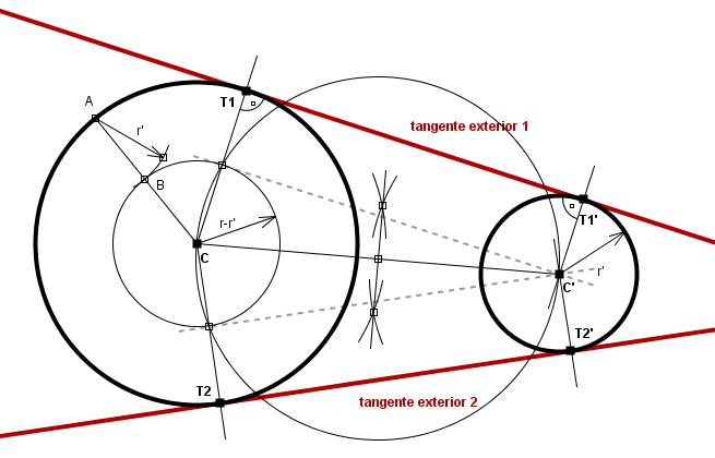 Rectas tangentes a dos circunferencias wikillerato for Exterior a la circunferencia