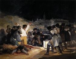 El tres de mayo de 1808 o Los fusilamientos de Príncipe Pío, de Goya